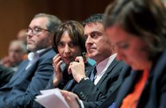 Le premier ministre samedi à Tours en compagnie de Marisol Touraine et Emmanuelle Cosse.