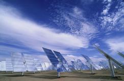 Un champ de panneaux solaires, à Barstow (Californie).