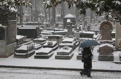 Le Père Lachaise sous la neige (Crédit: Figaro Photo)