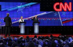 Sur CNN (propriété de Time Warner) s'est déroulé le débat entre Hillary Clinton et Bernie Sanders, en avril 2016.