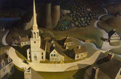 «La Chevauchée nocturne de Paul Revere», de Grant Wood, 1931.