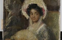 «Jeune femme à l'éventail», tableau autrefois dénommé Jeune femme nègre, de Simon Maris, a été retitré par le Rijksmuseum car jugé raciste.