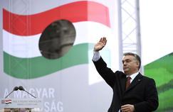 Le Premier ministre hongrois, Viktor Orban, lors de son discours à Budapest le 23 octobre 2016.