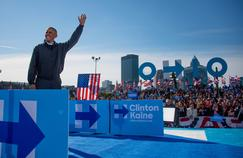 Le président américain Barack Obama est venu soutenir Hillary Clinton lors d'un meeting dans l'Ohio, l'un d'est États où se jouera l'élection présidentielle, le 8 novembre.