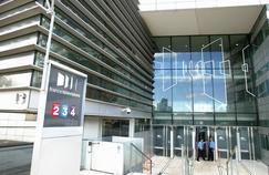 L'entrée du siège de France Télévisions à Paris.