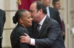 Christiane Taubira, ancienne ministre de la Justice et François Hollande