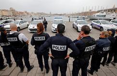 Une nouvelle mobilisation de policiers, lundi, sur le Vieux-Port de Marseille.