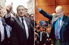 Nicolas Sarkozy à Nancy, le 25 octobre. Alain Juppé à Biarritz, le 22 octobre.
