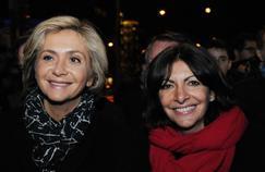 Valérie Pécresse (g) et Anne Hidalgo (d) à Paris, le 9 février 2016.