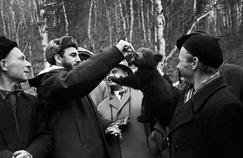 Fidel Castro en voyage en Union soviétique en mai 1963.