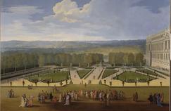 «Promenade de Louis XIV en vue du Parterre du Nord dans les jardins de Versailles» (détail), Étienne Allegrain, 1688.