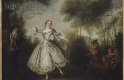 La Camargo dansant (détail), Nicolas Lancert, vers 1730-1731.