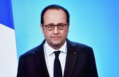 François Hollande, jeudi soir, depuis l'Élysée (AFP PHOTO / OLIVIER MORIN).