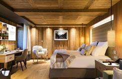 Une chambre de l'hôtel Les Neiges. © Fabrice Rambert