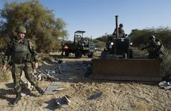 L'armée française répare la piste de l'aéroport de Tombouctou (Mali), en janvier 2013.