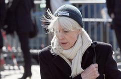 Françoise Hardy, à l'église de Saint-Germain-des-Près pour les obsèques d'Alain Bashung en mars 2009.