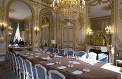 La salle du conseil des ministres à l'Élysée