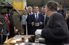 Manuel Valls ce mercredi à Noirefontaine (Doubs).
