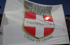 Un drapeau de l'Evian-Thonon-Gaillard,
