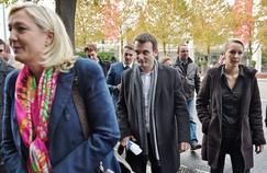 Marine Le Pen, Florian Philippotet Marion Maréchal-Le Pen,en novembre 2014, à Paris.