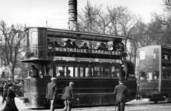 En 1910, la ligne entre Montrouge et la Gare de l'Est était équipé d'un tramway à vapeur.