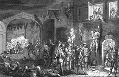 Le massacre de la Saint Barthelemy, le 23-24 août 1572.