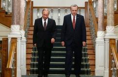 Recep Tayyip Erdogan avec Vladimir Poutine le 11 octobre 2016 à Istanbul.