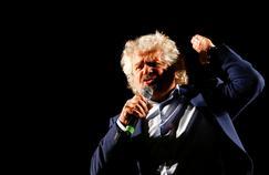 Beppe Grillo, fondateur du Mouvement 5 étoiles pendant un référendum à Rome, en novembre 2016.