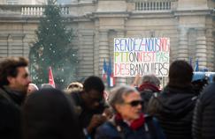 Manifestation d'employés de la poste, le 8 décembre 2016.