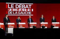 Les sept candidats à la primaire de la gauche à Paris, le 15 janvier 2017.