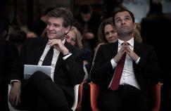 Arnaud Montebourg et Benoît Hamon, candidats à la primaire de la Belle Alliance Populaire.
