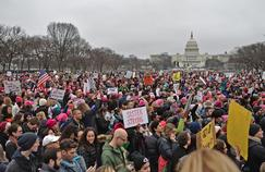 Plusieurs centaines de milliers de manifestants étaient présents à Washington.