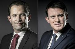 Benoît Hamon et Manuel Valls sont les deux finalistes du premier tour de la primaire.