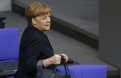 La chancelière, Angela Merkel, au Bundestag, à Berlin, le 19 janvier.