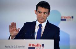 Manuel Valls au soir du premier tour de la primaire de la gauche.