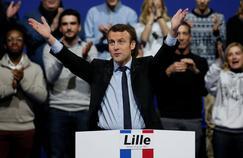 Emmanuel Macron en meeting à Lille, le 14 janvier.