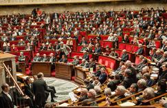 Le groupe PS dans l'hémicycle de l'Assemblée nationale, en février 2016.