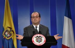 François Hollande en conférence de presse à Bogota en Colombie, le 23 janvier.