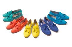 Le modèle iconique Brera, orné de fiocchetti, se décline dans des couleurs vives pour l'été 2017.