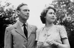 Le roi d'Angleterre, George VI avec sa fille Elizabeth vers 1950.