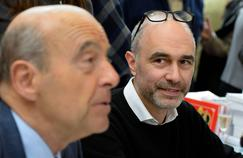 Alain Juppé et Gilles Boyer pendant un déplacement en Dordogne.