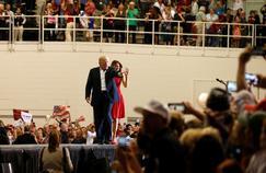 Donald Trump, samedi, lors d'un rassemblement à l'aérodrome de Merlbourne, en Floride.
