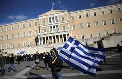 Des agriculteurs manifestent contre l'austérité, à Athènes, le 14 février