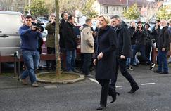 Marine le Pen, le 7 févirer 2017 à Juvisy-sur-Orge.