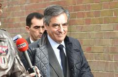 François Fillon, après la visite d'un centre social, vendredi, à Tourcoing.