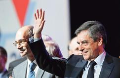 François Fillon et Eric Woerth, le 15 février lors d'un meeting à Margny-lès-Compiègne, dans l'Oise.