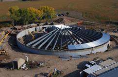 La construction du Survival Condo Project, un bunker construit dans un silo, dans le Kansas.