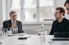Bill Gates et Bono.