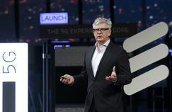 Börje Ekholm, PDG d'Ericsson, lundi, au World Mobile Congress à Barcelone (Espagne).