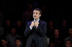 Emmanuel Macron lors d'un meeting à Londres le 21 février.